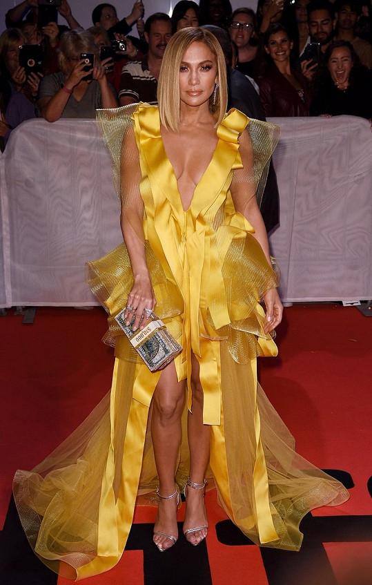 Jennifer Lopez na premiéře Zlatokopek na torontském filmovém festivalu