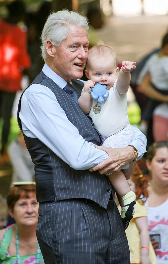 Bill Clinton s vnučkou Charlotte