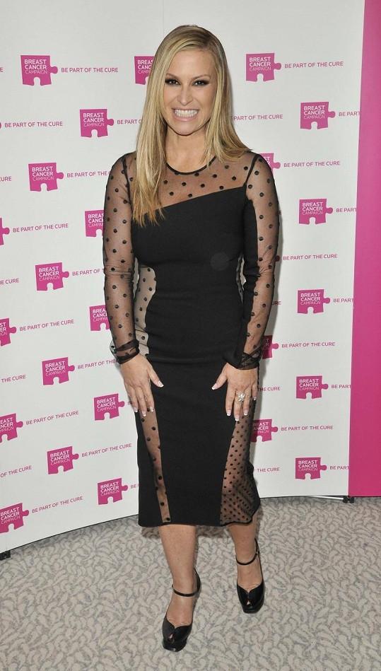 Anastacia na akci Pink Ribbon Ball v Londýně.
