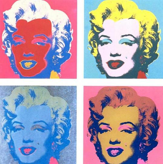 Marilyn Monroe na slavné fotografii Andyho Warhola.