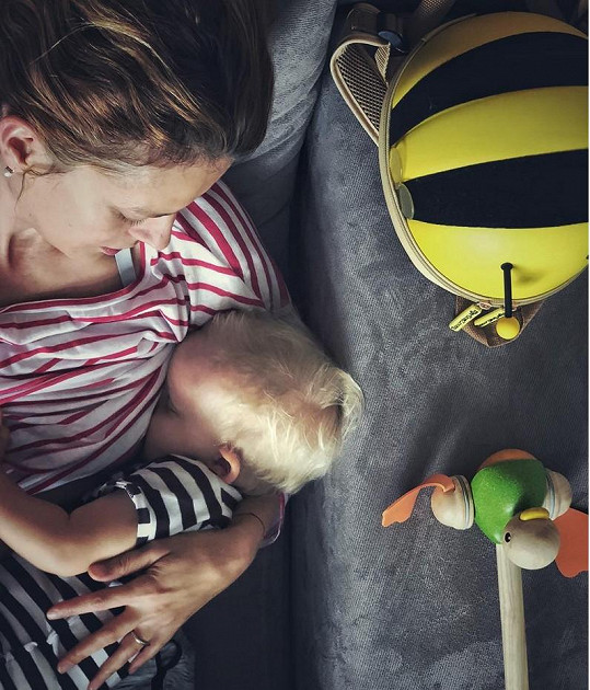 Andrea Růžičková se pochlubila snímkem s Tobiášem.