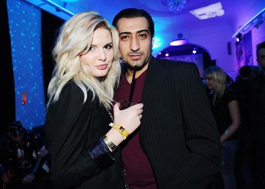 Nikol Štíbrová a Ali Amiri na večírku MTV