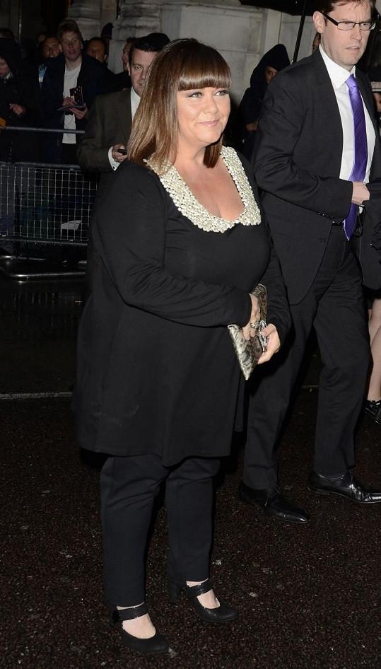 Dawn nedávno na akci Daily Mirror Pride of Britain Awards 2012.