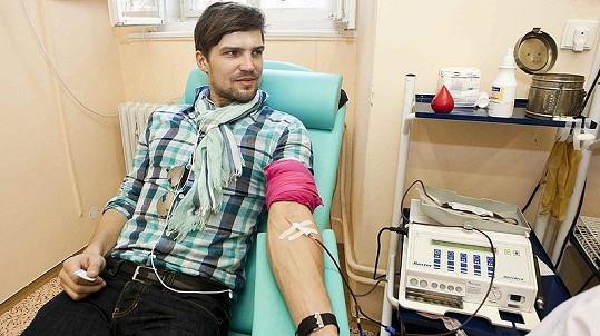 Jan Hájek daroval krev už poněkolikáté
