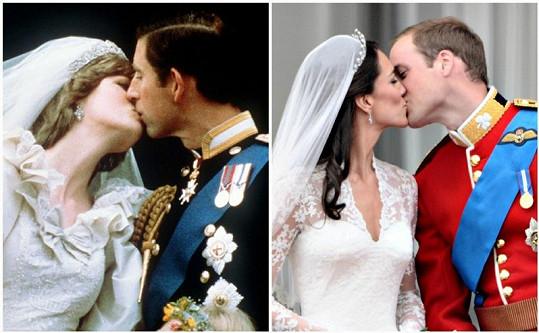 Kate zavřela při polibku oči, což je podle psychologů dobré znamení. Diana ne.