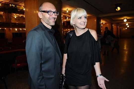 Bára Nesvadbová s bývalým přítelem Leškem Wronkou.