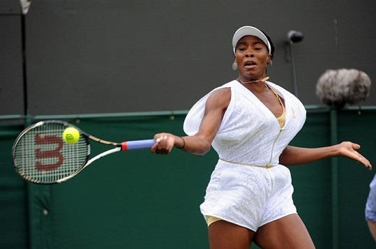 Venus Williams v akci.