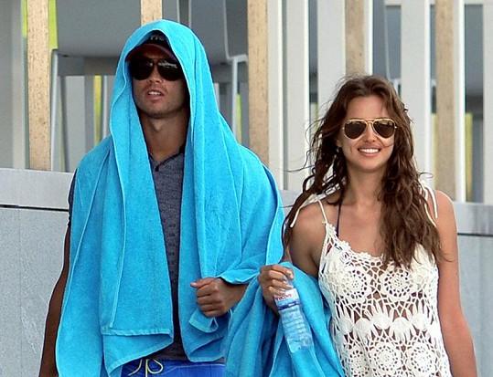 Cristiano Ronaldo s Irinou Shayk na dovolené v Portugalsku.