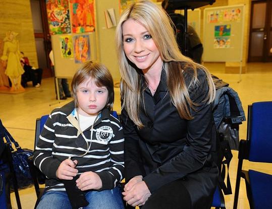 Tina Pletánková se synem Andrém