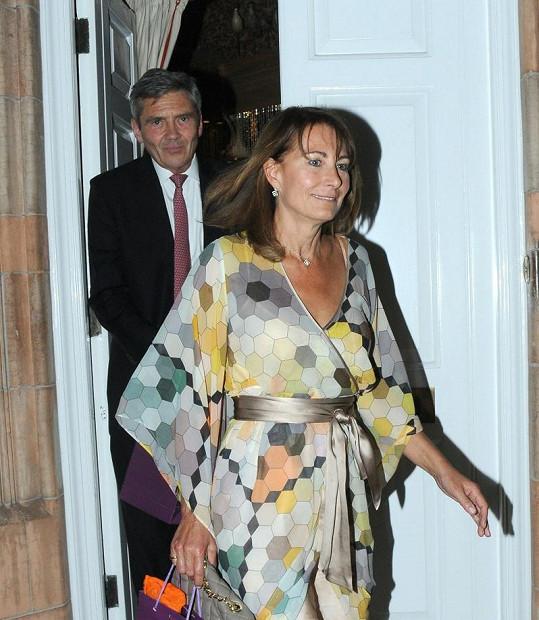 Carole Middleton s manželem Michaelem.