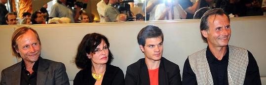Karel Roden, Jana Krausová, Adam Kraus a Marian Roden.
