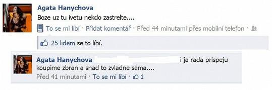 Agáta na Ivetu na Facebooku drsně zaútočila.