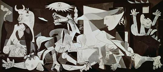 Známý obraz Guernica malíře Pabla Picassa.