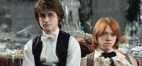 Daniel jako kouzelnický učeň Harry Potter.