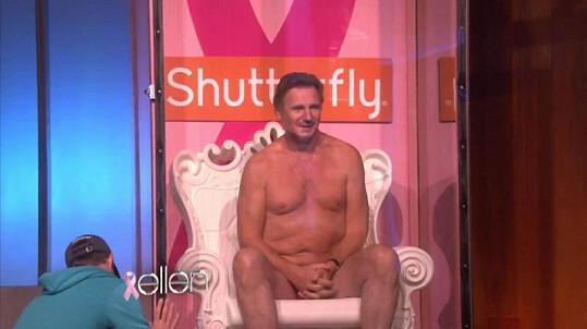 Liam Neeson v televizním pořadu The Ellen DeGeneres show.