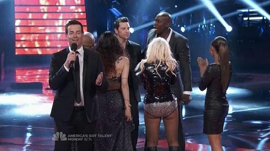 Aguilera v soutěži The Voice.