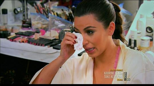 Kim proplakala poslední díl své reality show.