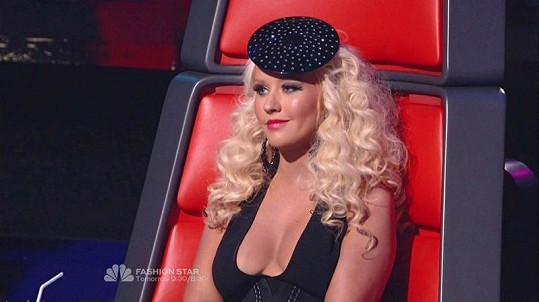 Aguilera jako porotkyně soutěže The Voice.