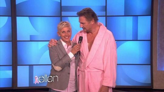 Známý herec s moderátorkou Ellen DeGeneres.