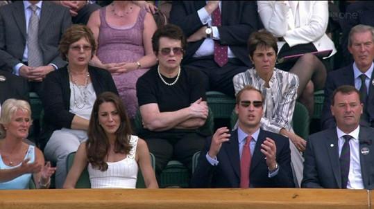 Manželé William a Kate prožívali zápas svého krajana Murrayho.