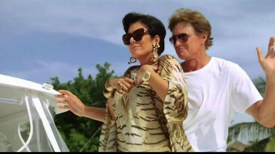 Kris v Dominikánské republice se svým manželem Brucem.