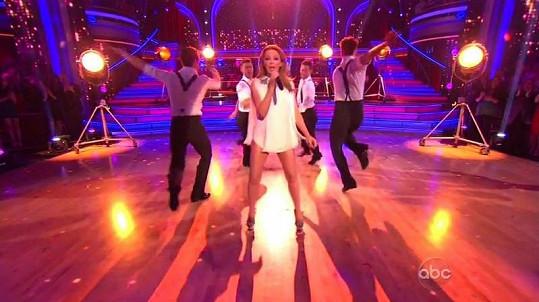 Australská zpěvačka vystoupila v soutěži Dancing With the Stars.