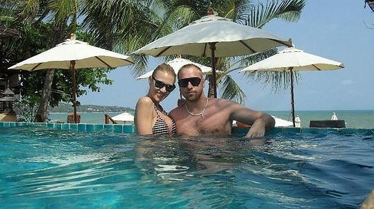 Kateřina Průšová s přítelem Davidem Martínkem na dovolené v Thajsku