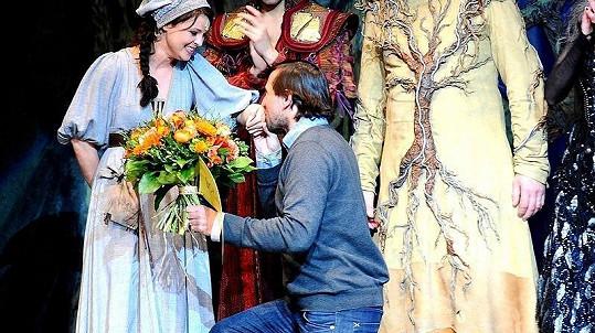 Betka Stanková a Jan Seidel na 100. repríze muzikálu Robin Hood