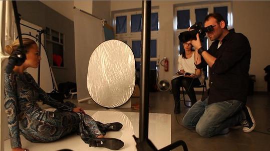 Focení probíhalo pod taktovkou fotografa Marka Musila.