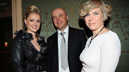 Monika Židková s manželem a Kateřina Neumannová a finále České Miss