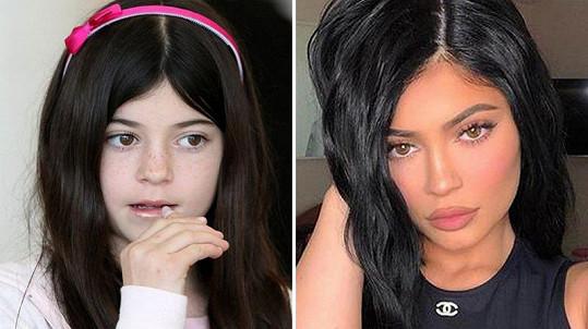 Kylie Jenner (archivní snímek vlevo)
