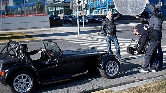 Ben Cristovao při natáčení nového videoklipu Mimozemšťanka