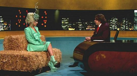 Gaga v britské talk show.