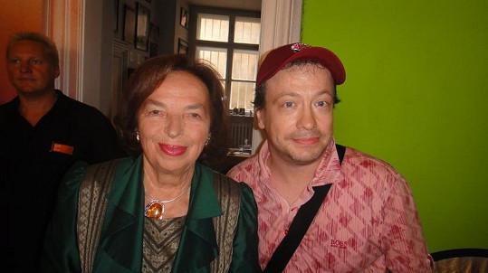 Zdeněk Kubík s první dámou Lívií Klausovou.