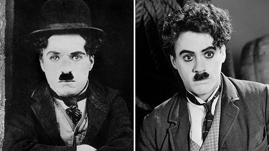 Poznali byste, který je který? Vlevo originál a vpravo Robert Downey Jr.
