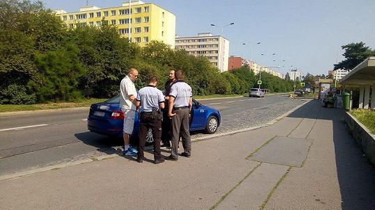 Radim přivolal na nepoctivého taxikáře policii.