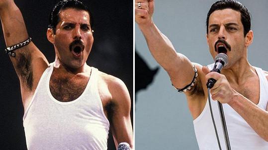Rami Malek je právem oceňovaný za roli Freddieho Mercuryho. Nastudoval si jeho pohyby do posledního detailu.