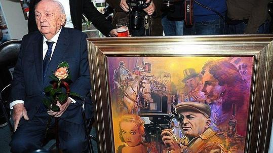 Otakar Vávra dostal k narozeninám od akademického malíře Petra Hampla obraz