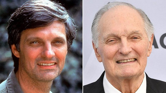 "Alan Alda alias Benjamin Franklin ""Hawkeye"" Pierce"