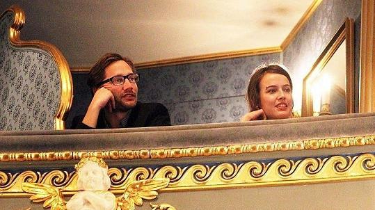 Tereza Voříšková se svým přítelem režisérem Jiřím Havelkou na Magnesii Liteře.