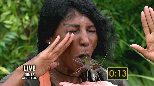 Sinitta v soutěži I'm a Celebrity, Get Me Out of Here!