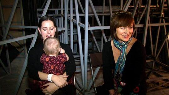 Bára s maminkou a dcerou Olivií Coco.