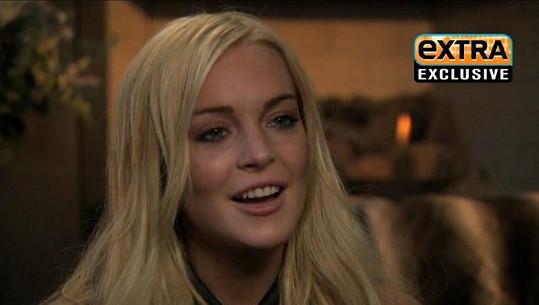 Lindsay Lohan s upraveným chrupem letos v únoru.