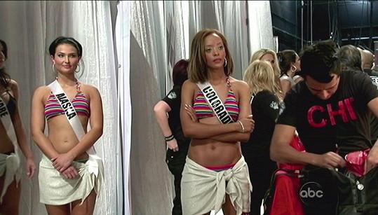Nervózní Blair Griffith na Miss USA.