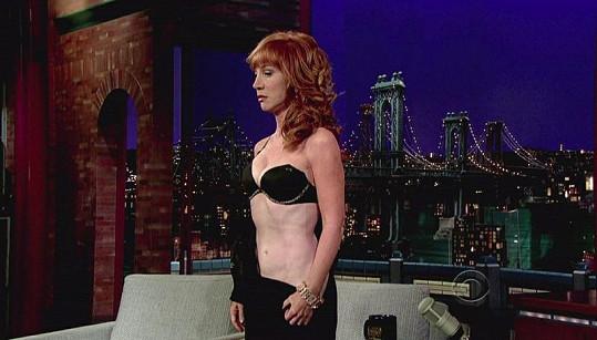 Kathy Griffin v Late Show Davida Lettermana ukázala dost.