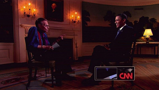Barack Obama v talk show Larryho Kinga.