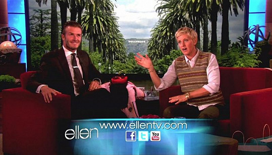 David Beckham předvedl, že má herecký talent.
