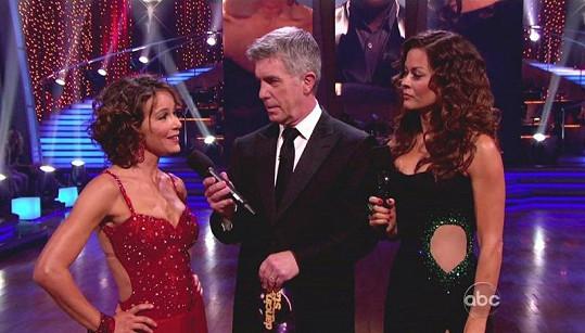 Herečka v taneční soutěži Dancing With The Stars.