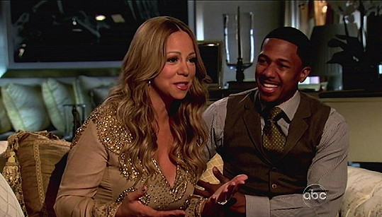 Mariah Carey a Nick Cannon ve studiu ABC.