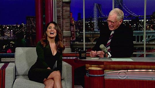Veselá Salma u Davida Lettermana.